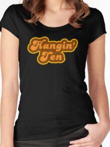 Hangin' Ten - Retro 70s - Logo Women's Fitted Scoop T-Shirt