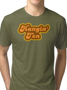 Hangin' Ten - Retro 70s - Logo Tri-blend T-Shirt