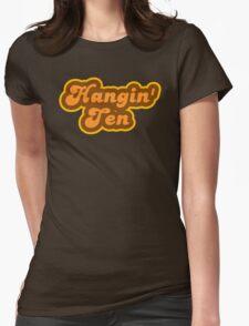 Hangin' Ten - Retro 70s - Logo Womens Fitted T-Shirt