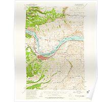 USGS Topo Map Washington The Dalles 244253 1957 62500 Poster