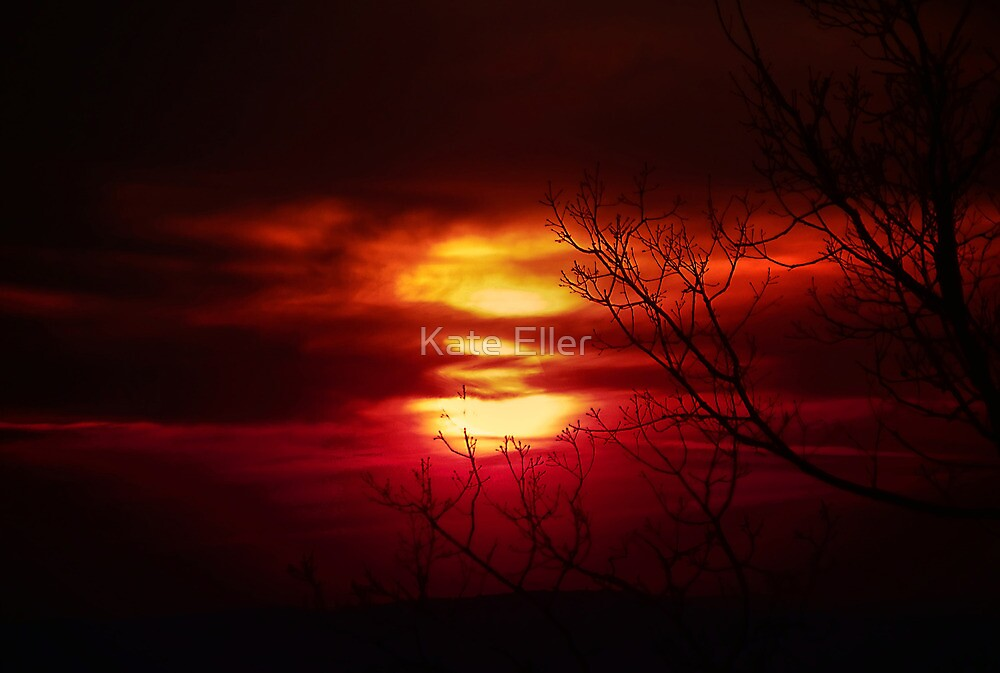Stormy Sunset by Kate Eller