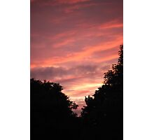 Pink Skyline Photographic Print