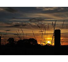 Sunset Over The Vale Photographic Print