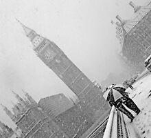 London Big Ben in the Snow by DavidGutierrez
