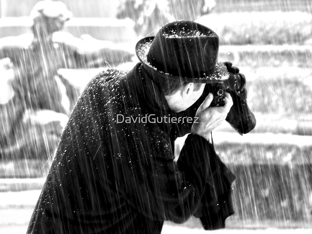 London Photographer in the Snow by DavidGutierrez