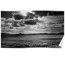 Monochromatic Cloud Formation Poster