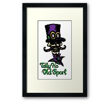 """Tally Ho, Old Sport"" - Dapper Steampunk Skeleton Framed Print"
