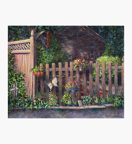 Flowerpots Hanging on a Fence Photographic Print