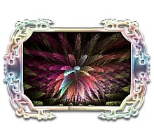 Spring Botanical in Multicolor Glass Frame Photographic Print