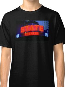State Theater Neon Sign Classic T-Shirt