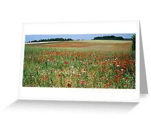Wildflower Field France Greeting Card