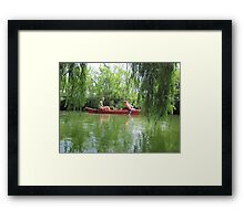 Canoeing on the Oconomowoc River Framed Print