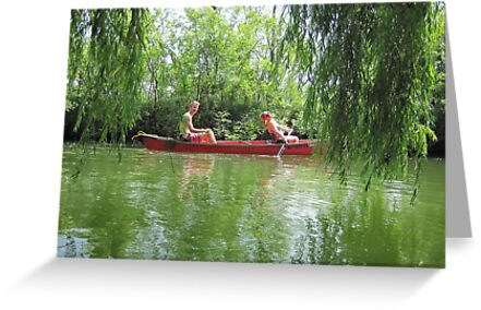 Canoeing on the Oconomowoc River by Thomas Murphy