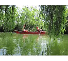 Canoeing on the Oconomowoc River Photographic Print