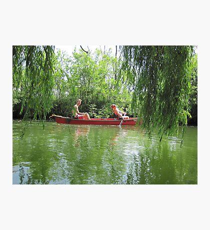 Canoeing on the Oconomowoc River Photographic Print