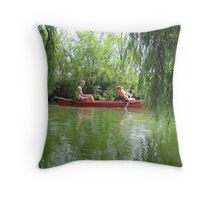 Canoeing on the Oconomowoc River Throw Pillow