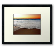 Beach At Sunset/Dusk - South of Western Australia Framed Print