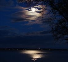Full Moon on Lake Simcoe by cdnjen