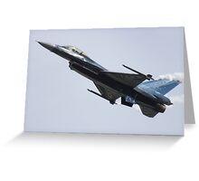 Belgian F16 Greeting Card