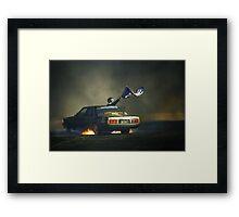 383AXE Burnout at Asponats Framed Print