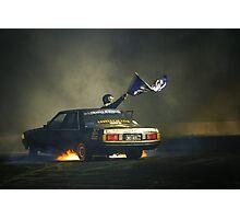 383AXE Burnout at Asponats Photographic Print
