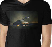383AXE Burnout at Asponats Mens V-Neck T-Shirt