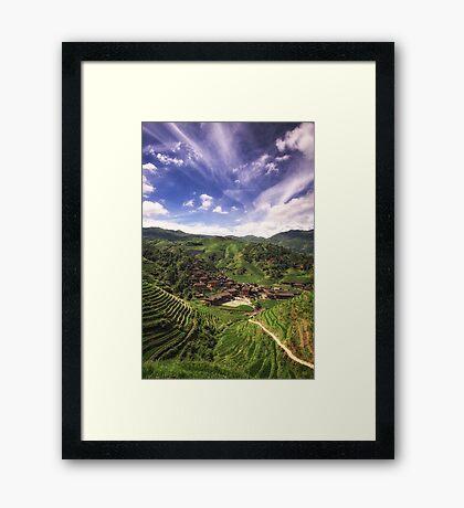 The Dragon Village Framed Print