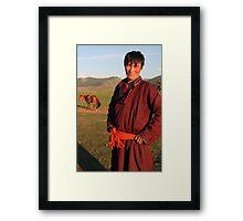 Mongolian Nomad Framed Print