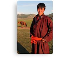 Mongolian Nomad Canvas Print