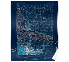 USGS Topo Map Oregon Portland 282801 1905 62500 Inverted Poster