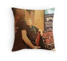 Art, Shops, Entertainment & Security Throw Pillow