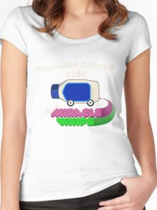 Mayonnaise Colored Benz Women's Fitted Scoop T-Shirt