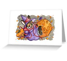 October Jackalope Greeting Card