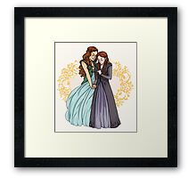 The Wolf and the Rose Framed Print