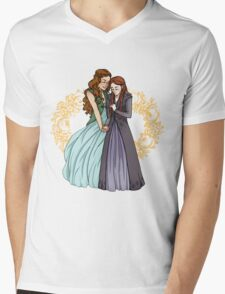 The Wolf and the Rose Mens V-Neck T-Shirt