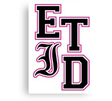 Every Time I Die - Varsity Letters (Black in Pink) Canvas Print