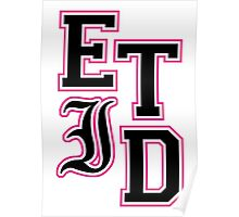 Every Time I Die - Varsity Letters (Black in Pink) Poster
