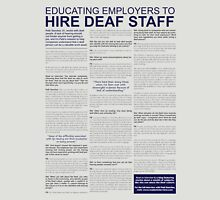 Hire Deaf Staff, interview Unisex T-Shirt