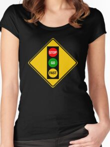 Go Very Fast. Women's Fitted Scoop T-Shirt