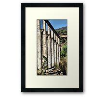 Shale Work Ruins 2 - Glen Davis NSW Australia Framed Print