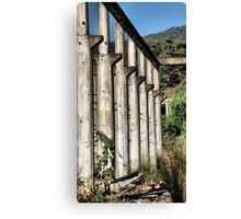 Shale Work Ruins 2 - Glen Davis NSW Australia Canvas Print