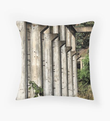 Shale Work Ruins 2 - Glen Davis NSW Australia Throw Pillow