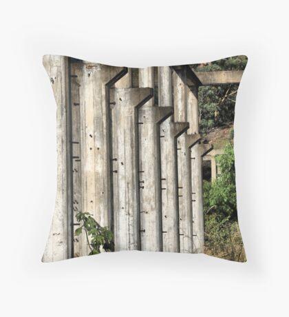 Shale Work Ruins 2 - Glen Davis NSW Australia Throw Pillow