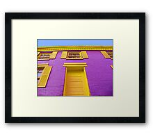 Colorful House in Georgetown Framed Print