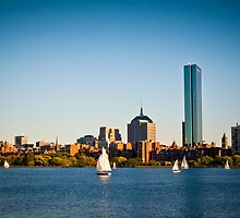Boston skyline at sunset by Andrea Rapisarda