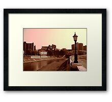 Johnstown, Pennsylvania on the Stonycreek Framed Print