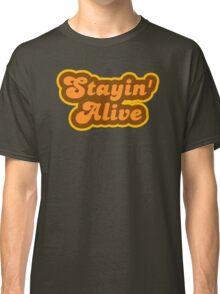 Stayin' Alive - Retro 70s - Logo Classic T-Shirt