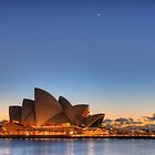 Sydney Opera House and Planetary Conjunction at Dawn by Mike Salway
