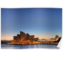 Sydney Opera House and Planetary Conjunction at Dawn Poster