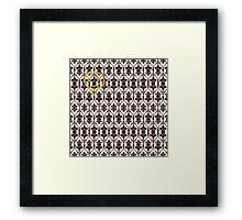 Sherlock Holmes Wallpaper Framed Print